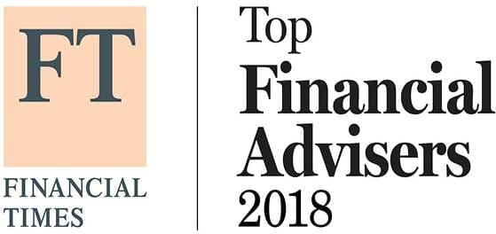 Financial Times Top Financial Advisers 2018 badge