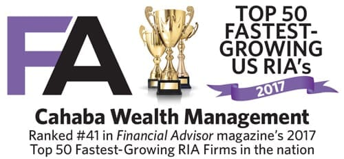 Top 50 Fastest Growing RIA's 2017 badge