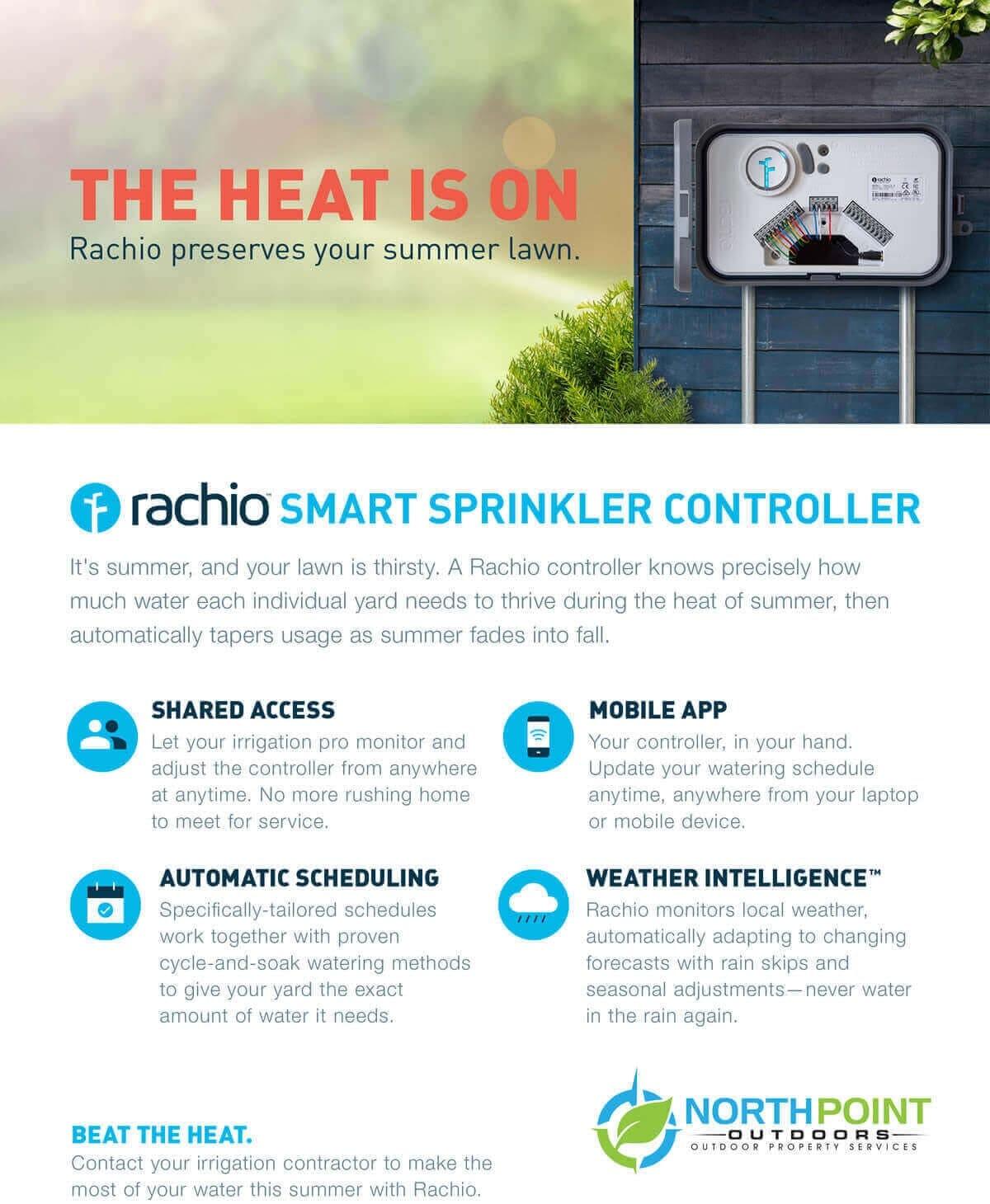 Rachio smart sprinkler controller sheet