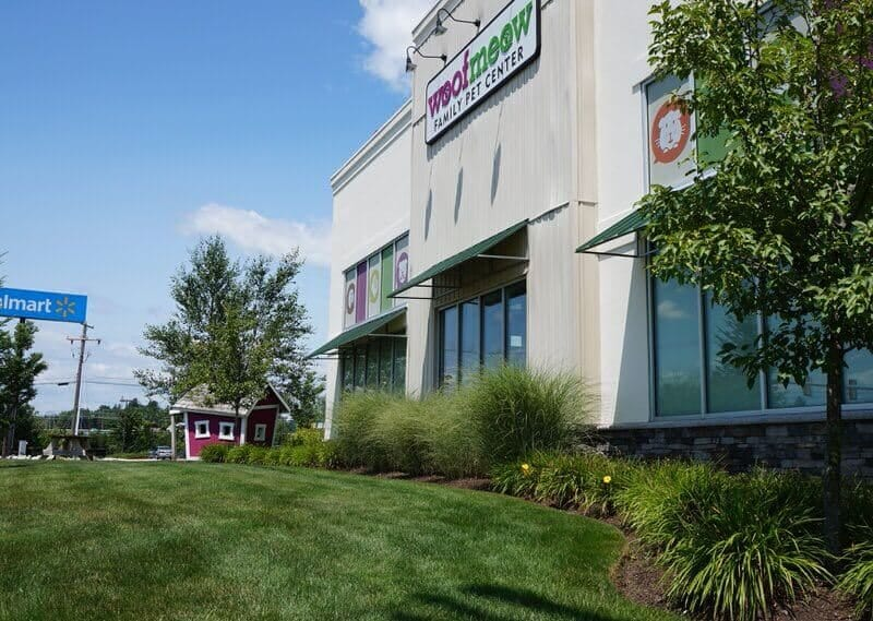 Professional landscaping of a retail property in Massachusetts