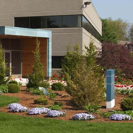 New Hampshire commercial property showing professional landscaping