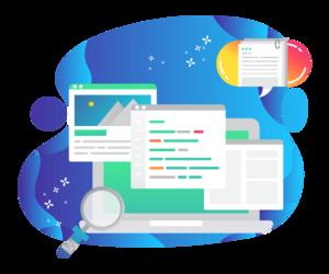 Browser cartoon icon