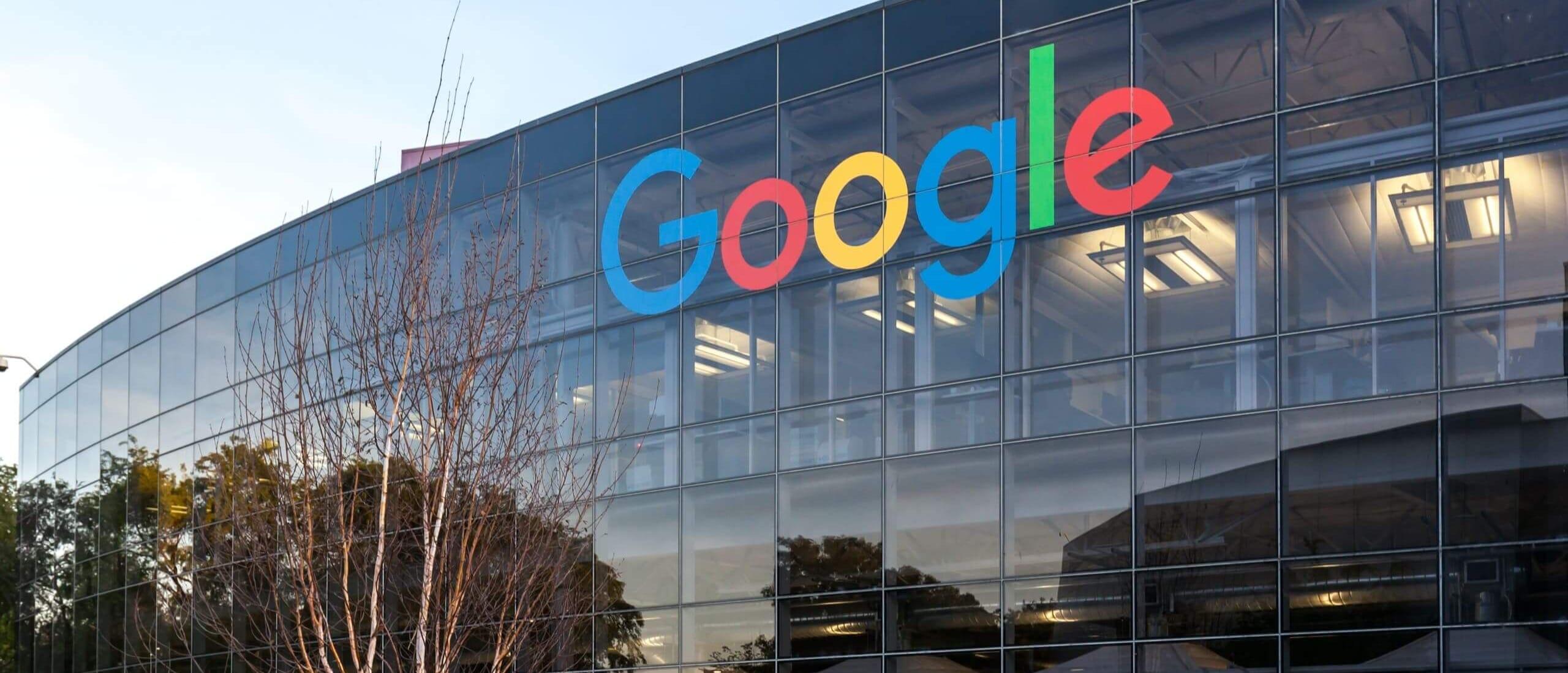 Google headquarters at dusk