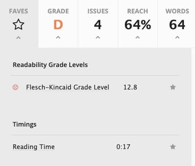 Readable app test results - bad