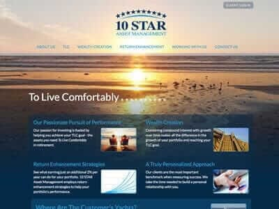 10Star Asset Management website screenshot thumbnail