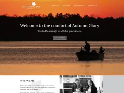 Autumn Glory Partners website screenshot thumbnail