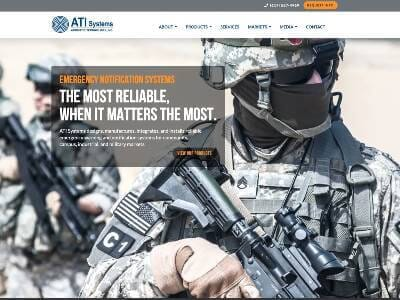 ATI Systems website screenshot thumbnail