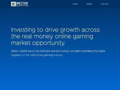 Bettor Capital website screenshot