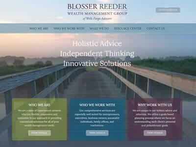 Blosser Reeder website screenshot thumbnail