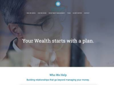 Cahaba Wealth Management website screenshot thumbnail