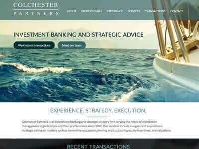 Colchester website screenshot
