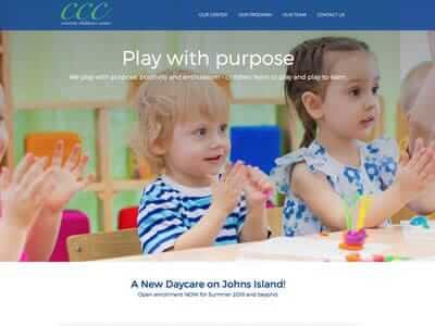 Crescent Childcare website screenshot thumbnail