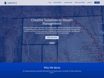 DaVinci Capital Management website screenshot