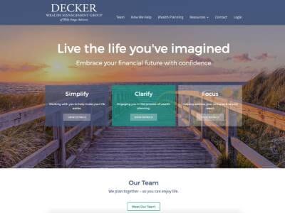 Decker website screenshot