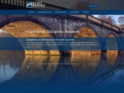 Echo Bridge Partners website screenshot thumbnail