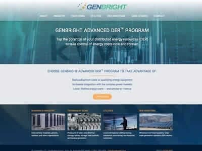 Genbright website screenshot thumbnail
