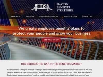 Havern Benefits website screenshot thumbnail