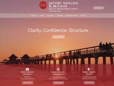 Jacoby Nealon McCain website screenshot thumbnail