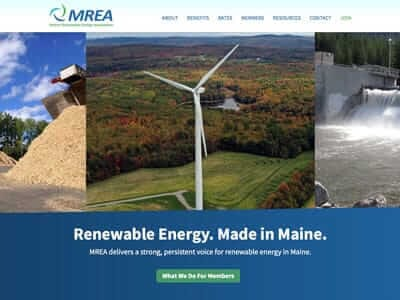 MREA website screenshot thumbnail