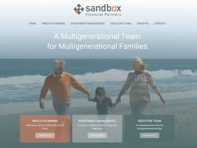 Sandbox Financial website screenshot thumbnail