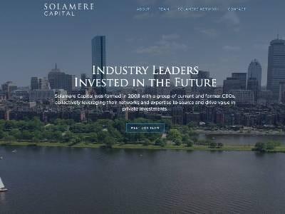 Solamere website screenshot