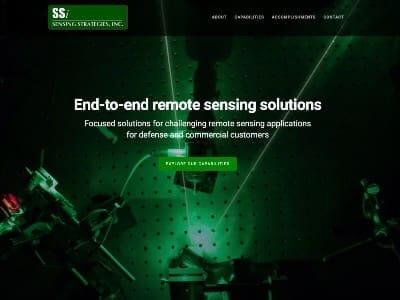 Sensing Strategies website screenshot