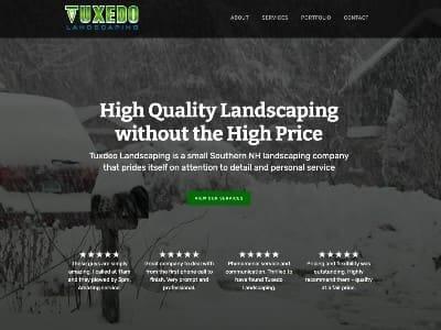 Tuxedo Landscaping website screenshot