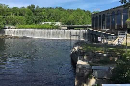 Salmon Falls River in South Berwick Maine