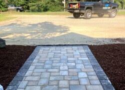 Beautiful new cobblestone walkway