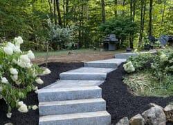 Beautiful new stone steps