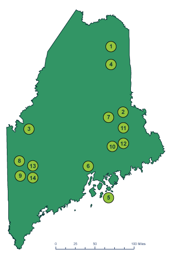 Wind power projects in Maine